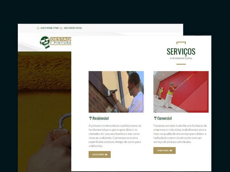 site empresa de pintura